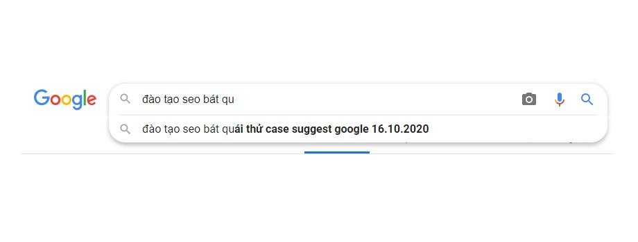 Cơ chế này  gọi là Google Suggest đào tạo seo bát quái